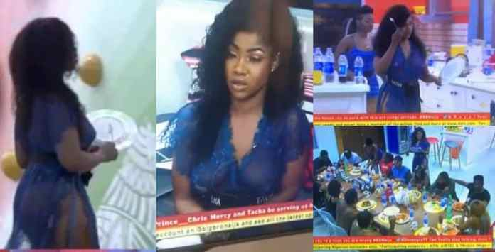 Image result for BBNaija 2019: Tacha slays in transparent outfit