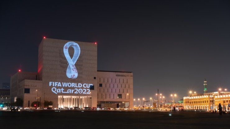 Image result for Qatar unveils 2022 FIFA World Cup logo