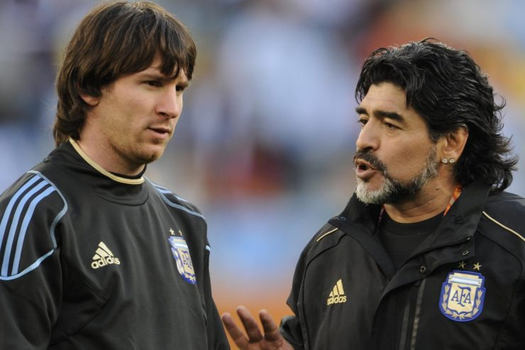 Cassano Urges Diego Maradona Fans To Accept Lionel Messi's Superiority