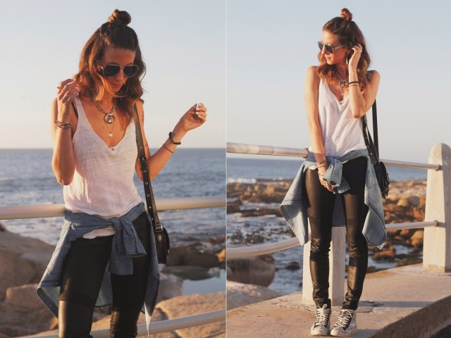 tobruckave, kim and zozi, outfit, style, layers, dittos brand, vans, nordstrom, sneakers