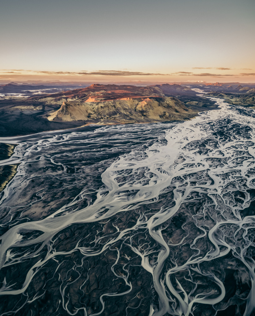Glacier Rivers in Iceland captured by Mike Bishop