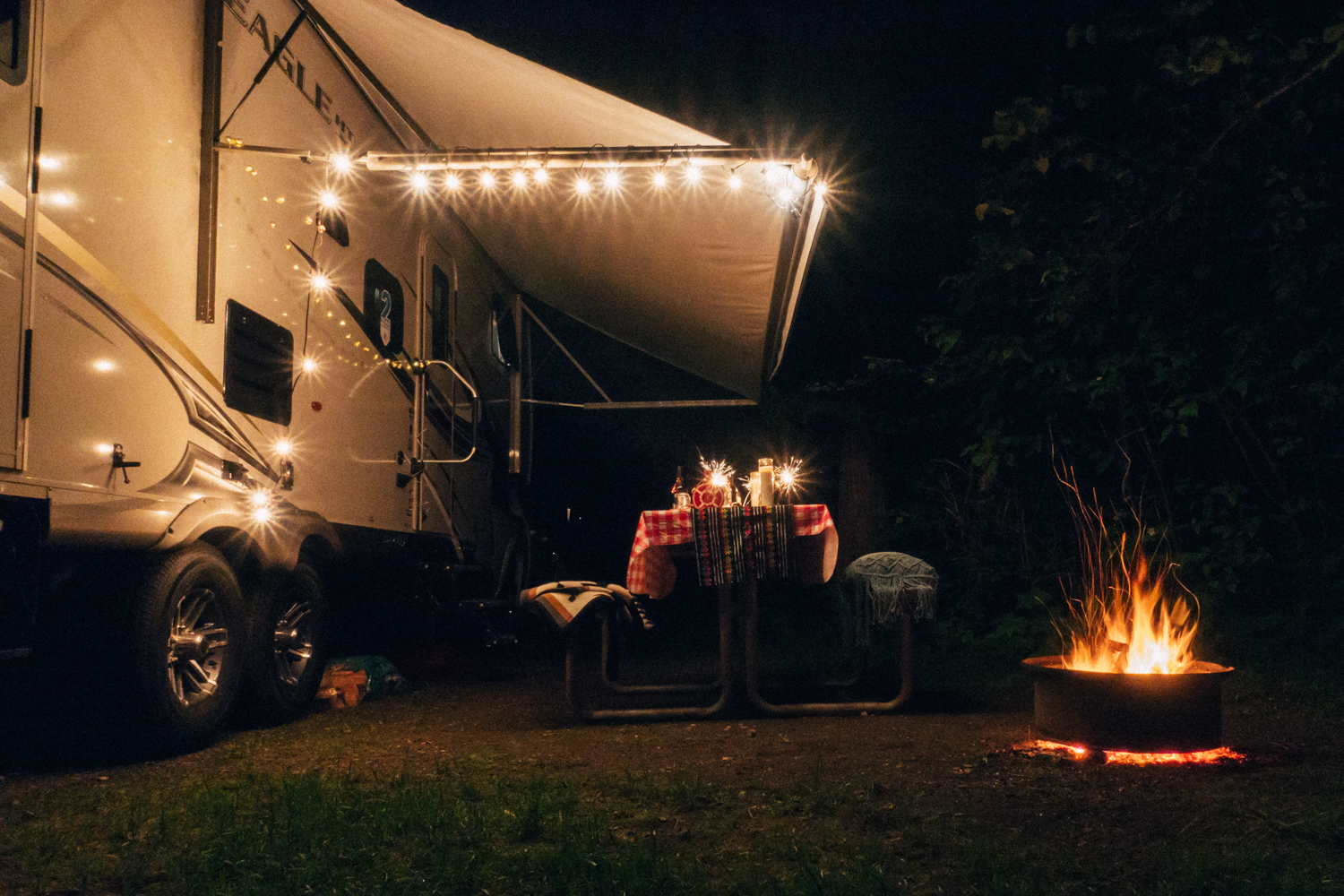 Camping with an RV