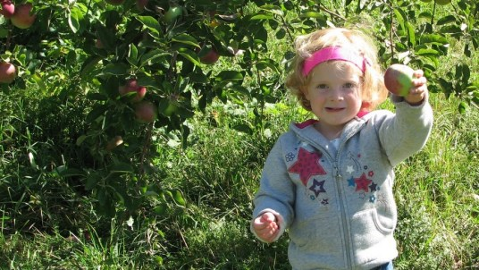 Charlotte and a good apple