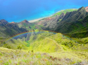 Beautiful Valley with Rainbow