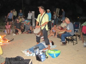 Healing Drummer Toby Christensen at Full Moon Fire