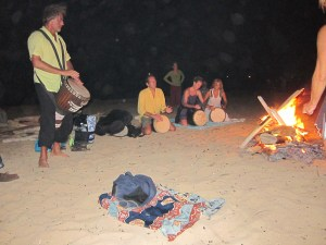 Healing Drum at Full Moon Fire