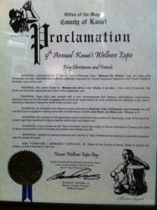 Kauai County Proclamation