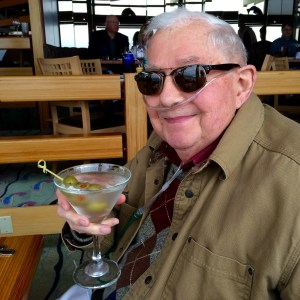 Father drinking a martini