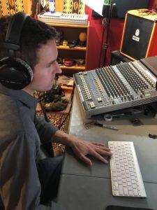 CJ Lambert rockin the mixer for Unravel