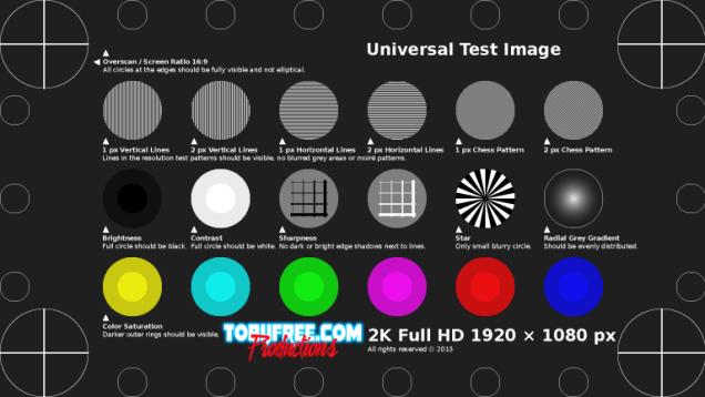 Universal Test Pattern 2K FullHD