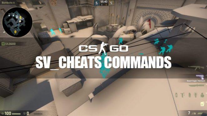 Sv_cheats commands in CSGO