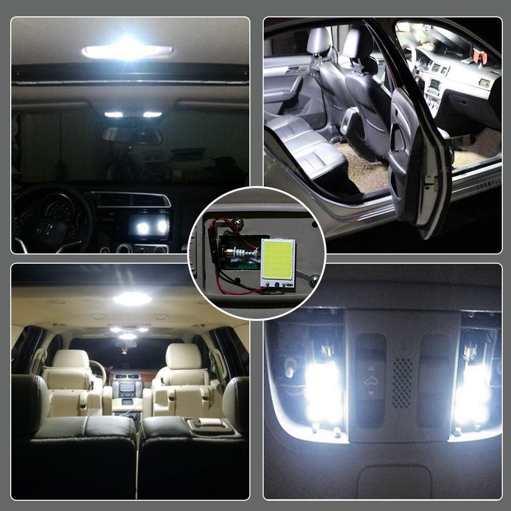 Super White COB 24-SMD LED Car Interior Roof Light & Super White COB 24-SMD LED Car Interior Roof Light - Tobysouq.com