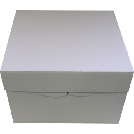boite a gateau carton blanc 31x31x20cm