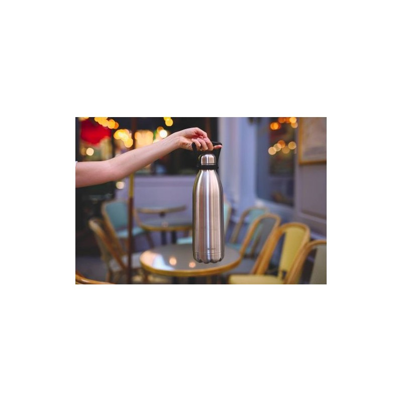 bouteille isotherme avec poignee inox 1 5l