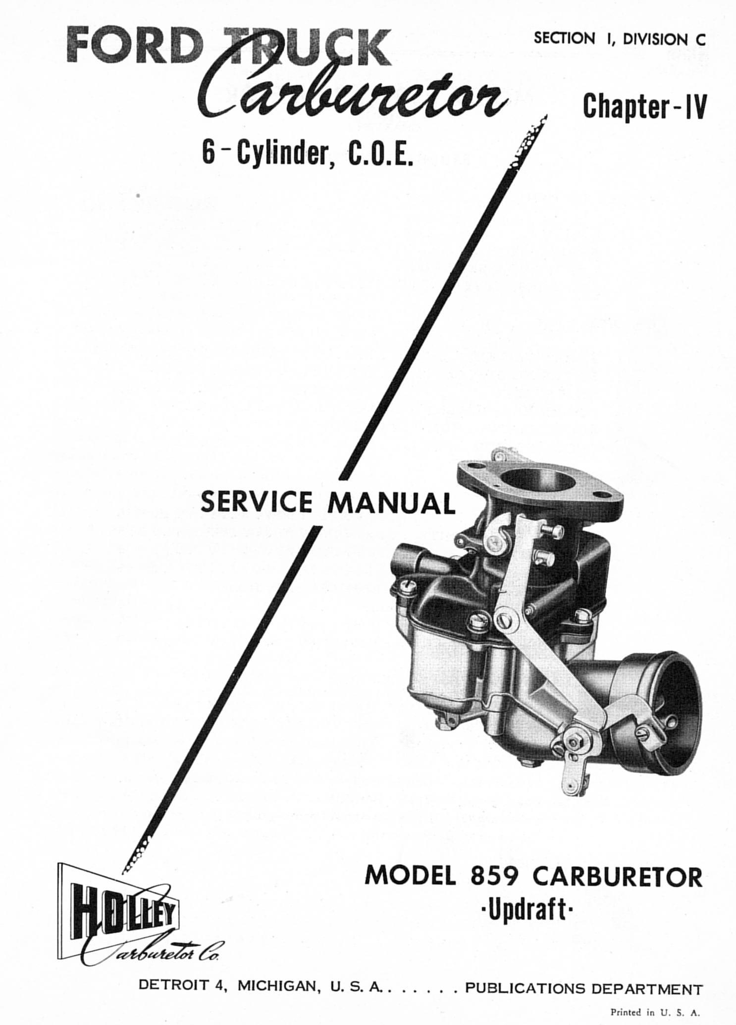 Holley 859 Carburetor Service Manual