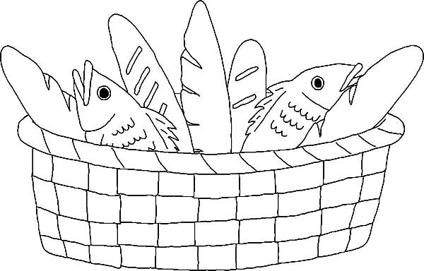 basket full of bread coloring pages  best place to color
