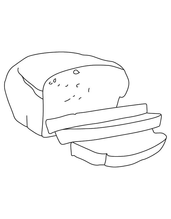 bread slice outline coloring pages  best place to color