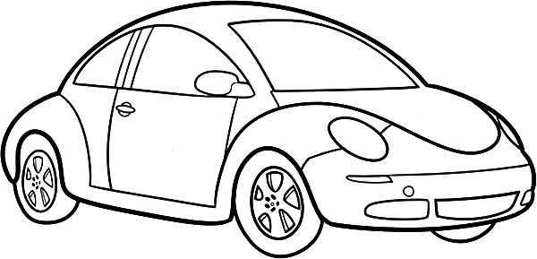How To Draw Beetle Car Coloring Pages 600x289 Jpg