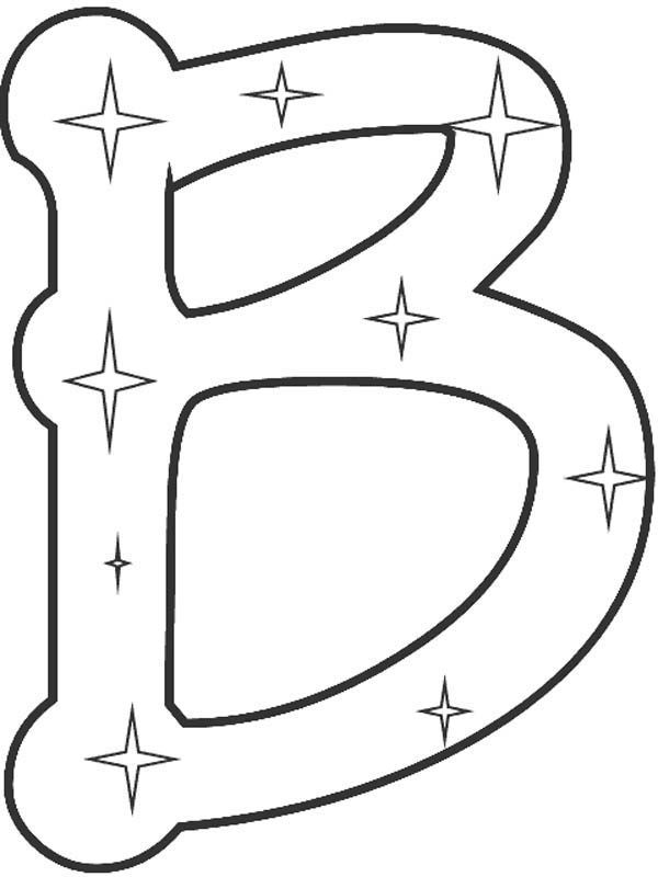 starry letter b coloring page  best place to color