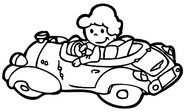 The Girl Driving Car Coloring Pages Best Place To Color