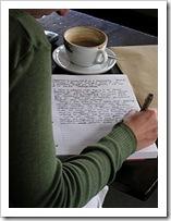 Escribiendo en un diario
