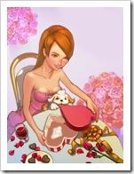 San Valentín, abriendo regalos de amor.
