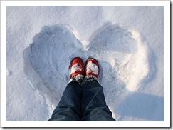 Corazones en la nieve