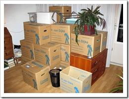Las cajas de la mudanza parecen nunca acabar