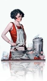 La mujer a la cocina