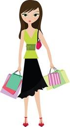 Compras, comprar, comprando, mujer, mujeres