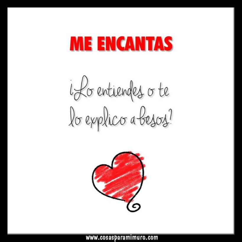 ¡Me encantas! ¿Te lo explico a besos?