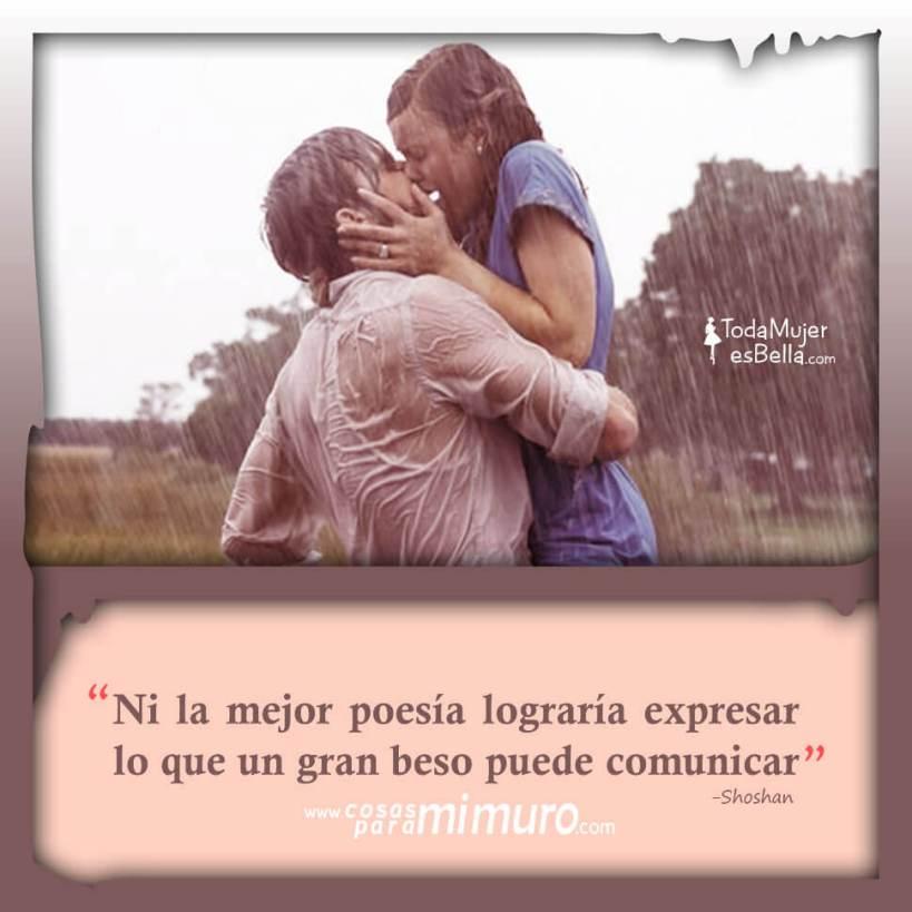 Un gran beso es mejor que la poesía