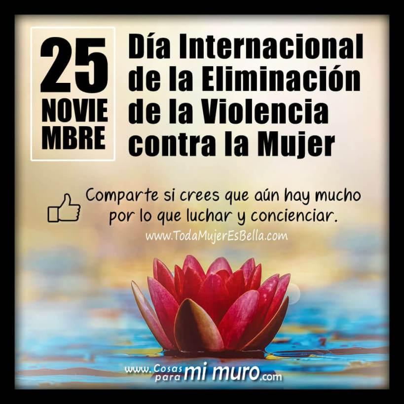 25 de noviembre Día Contra la Violencia a la Mujer