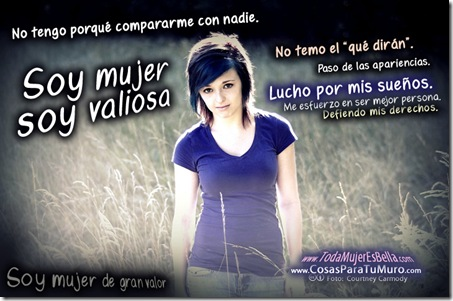 Soy mujer, soy valiosa