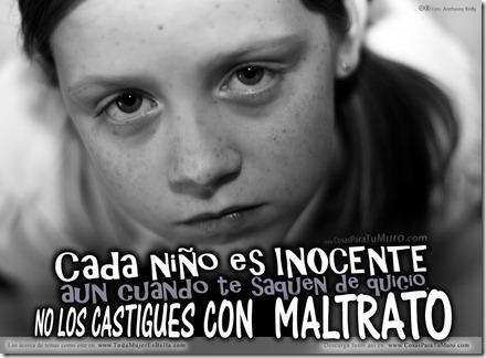 No al maltrato infantil