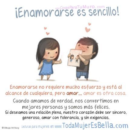 Enamorarse es sencillo