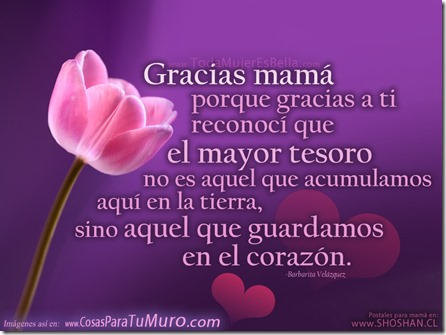 Gracias Madre gracias madre, te amo