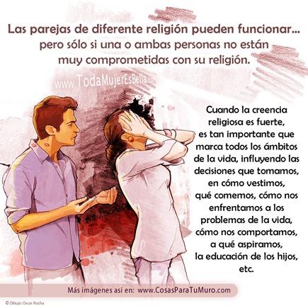 Parejas de diferente religión