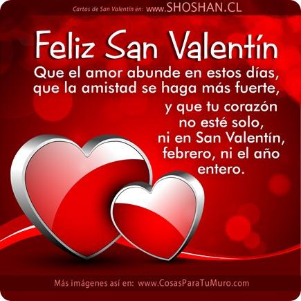 ¡Feliz San Valentín! Que el amor abunde en estos días, que la amistad se haga más fuerte, y que tu corazón no esté solo, ni en San Valentín, febrero, ni el año entero.