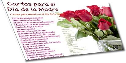 Cartas para el día de la madre
