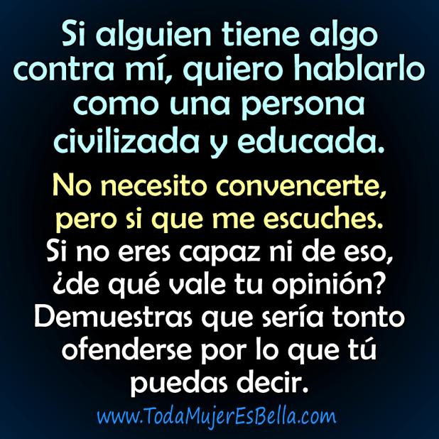 T escoges ofenderte o defenderte - Como alejar la mala vibra de una persona ...