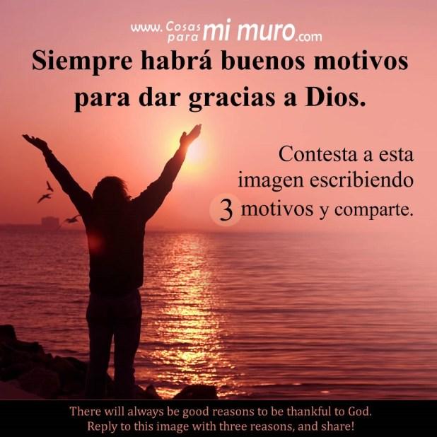 Motivos para dar gracias a Dios