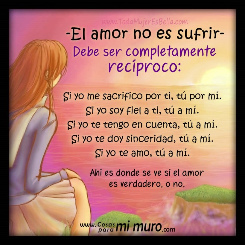El amor no es sufrir, es recíproco