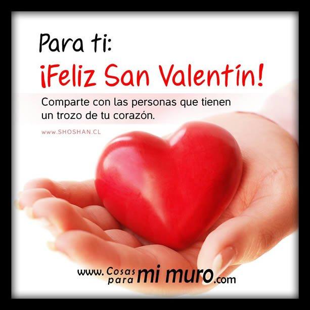 Corazón para compartir por San Valentín