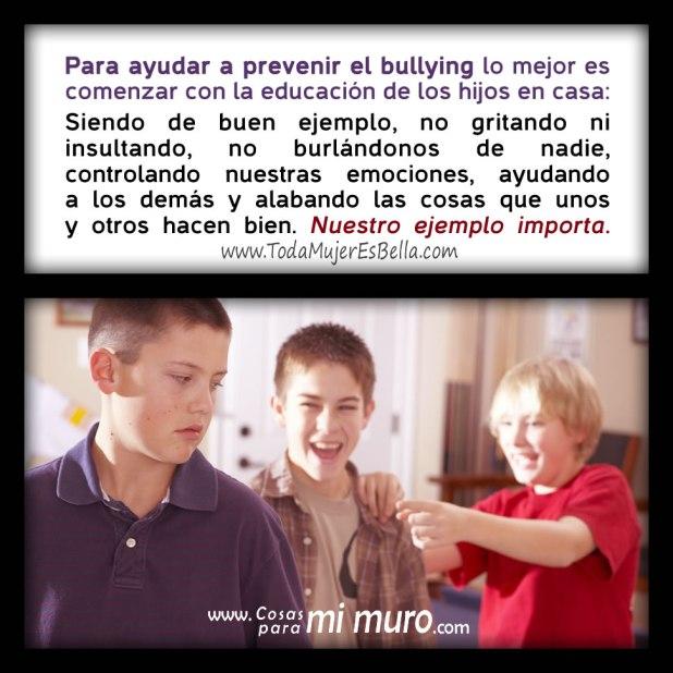 Para prevenir el acoso escolar de los niños