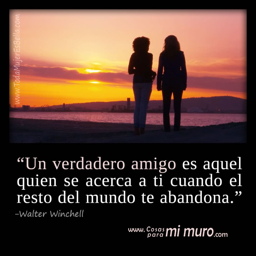 Un verdadero amigo no te deja solo