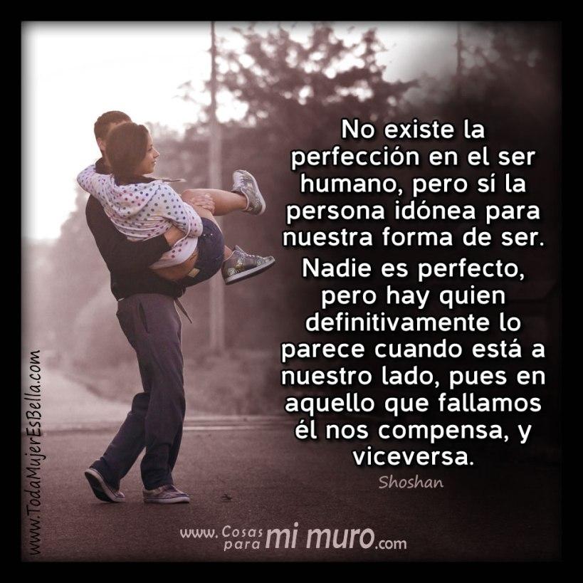 No existe la perfección en el ser humano