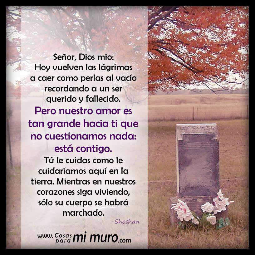 Oración por fuerzas ante los recuerdos de quien ha fallecido