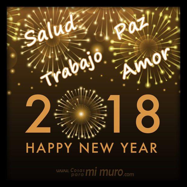 Salud, paz, trabajo y amor para el 2018