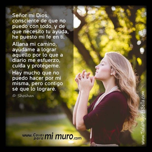 Oración pidiendo ayuda en lograr las cosas